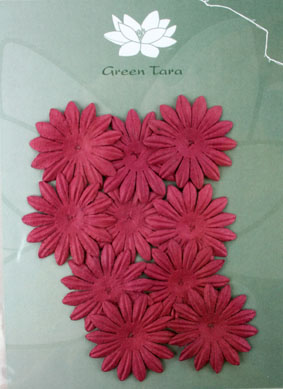 4cm Petals. Burgundy. Pack of 10