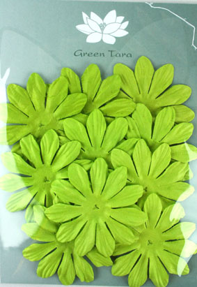 7cm Petals, Lime Green Pack of 10