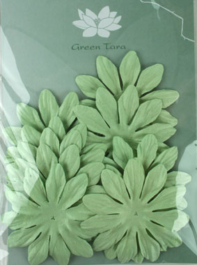 7cm Petals, Mint Pack of 10