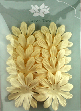 6cm Petals, Cream Pack of 10