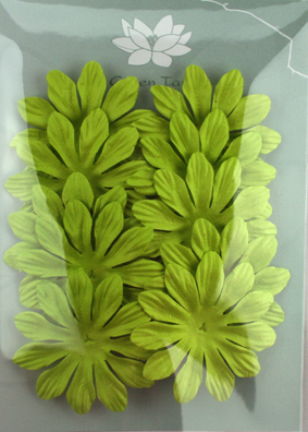 6cm Petals, Lime Green Pack of 10