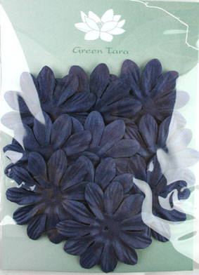 6cm Petals, Midnight Blue Pack of 10