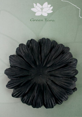 10cm petals. Black Pack of 5.