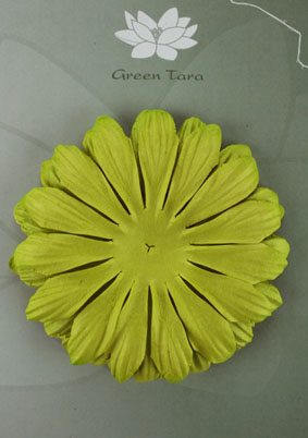 10cm petals. Lime Green Pack of 5.