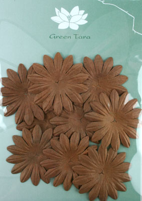 5cm Petals, Dark Brown Pack of 10