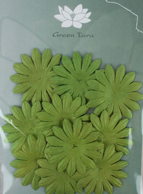 5cm Petals, Green. Pack of 10