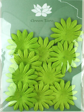 5cm Petals, Lime Green Pack of 10