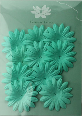 5cm Petals, Turquoise Pack of 10