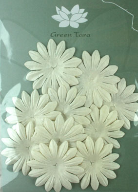 5cm Petals, White Pack of 10