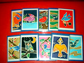 10 cards and Envelopes Bird