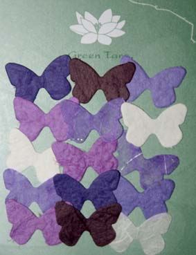 15 Mini Butterflies, Purple