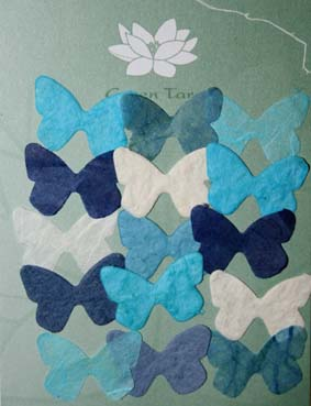 15 Mini Butterflies, Blue