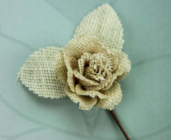 Burlap 5cm Rose Natural