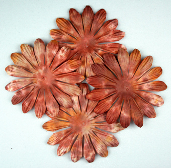 10cm petals Batik Henna. Pack of 25.