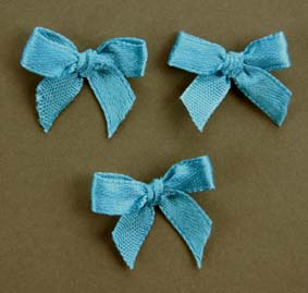 Pack of 100 2cm Bows. Turquoise.
