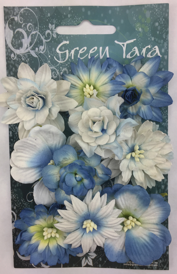Cornflowers Pack of 10 Co-ordinated Flowers Bright Blue