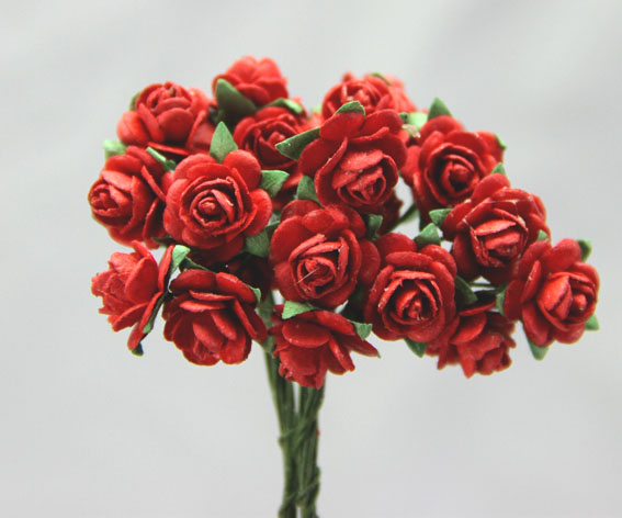 100 Roses 1cm Fire Engine Red