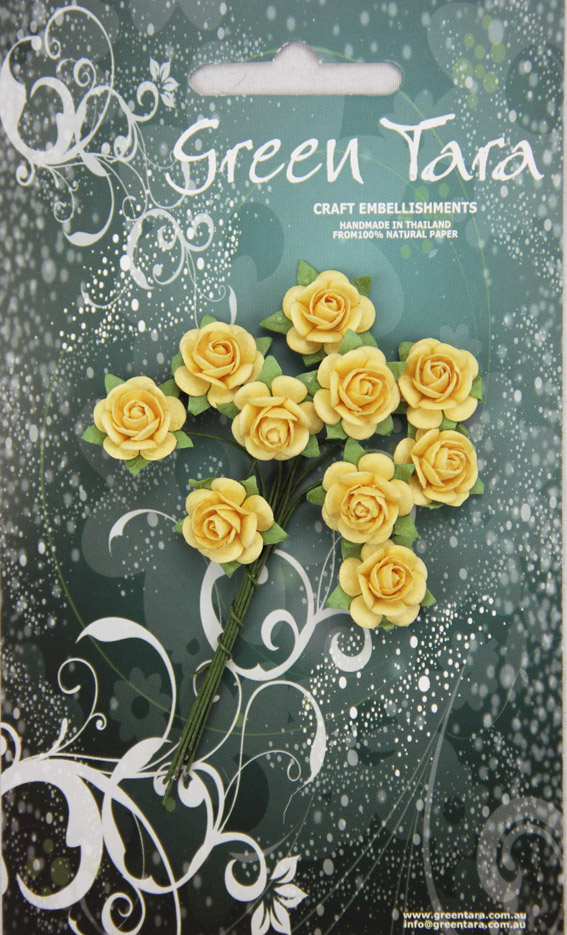10 Roses 1.5cm Pale Yellow