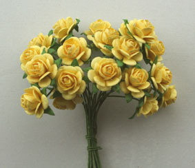 100 Roses 1.5cm Pale Yellow