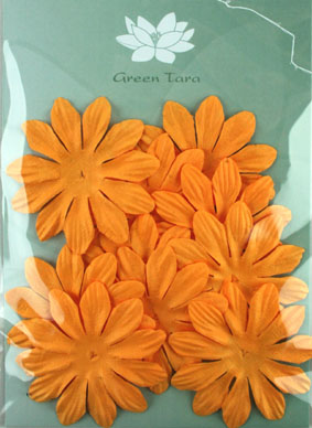6cm Petals, Gold. Pack of 10