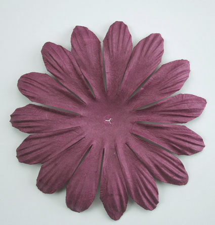 10cm petals. Plum Pack of 25.