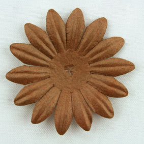 4cm Petals, Dark Brown.