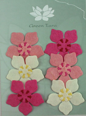 """6 Flowers """"Periwinkle"""" Pink/White"""