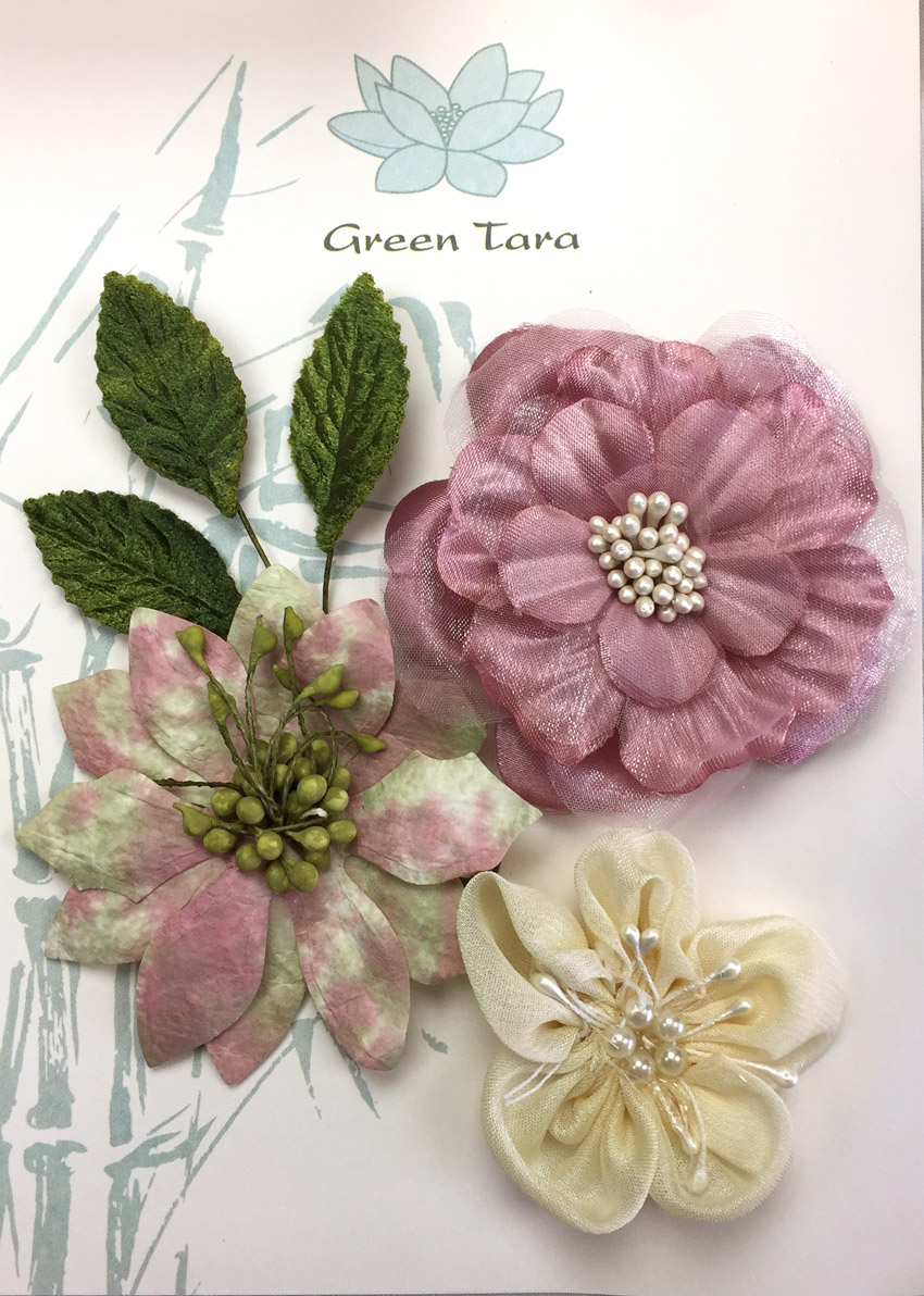 Fabric Flowers Dusky Pink pack