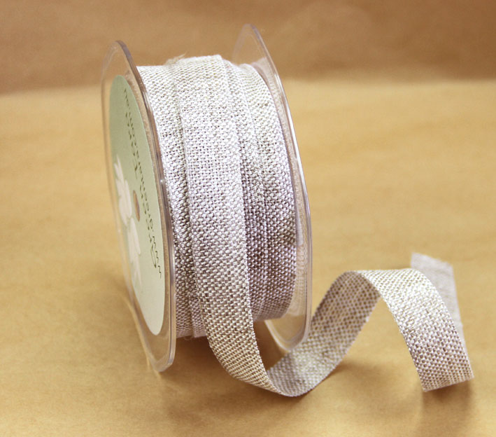 15mm Natural Linen Ribbon, 15 Metres
