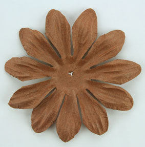 6cm Petals, Dark Brown