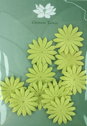 4cm Petals, Pale Green. Pack of 10