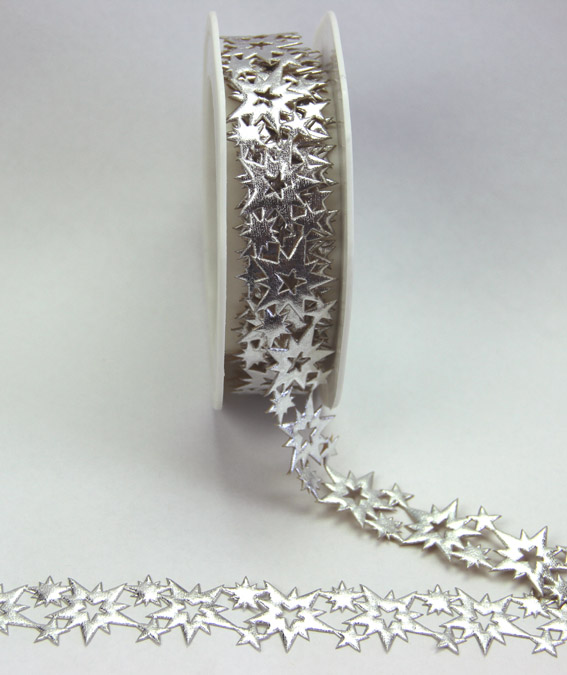 18mm Self Adhesive Starburst Trim 10m, Silver