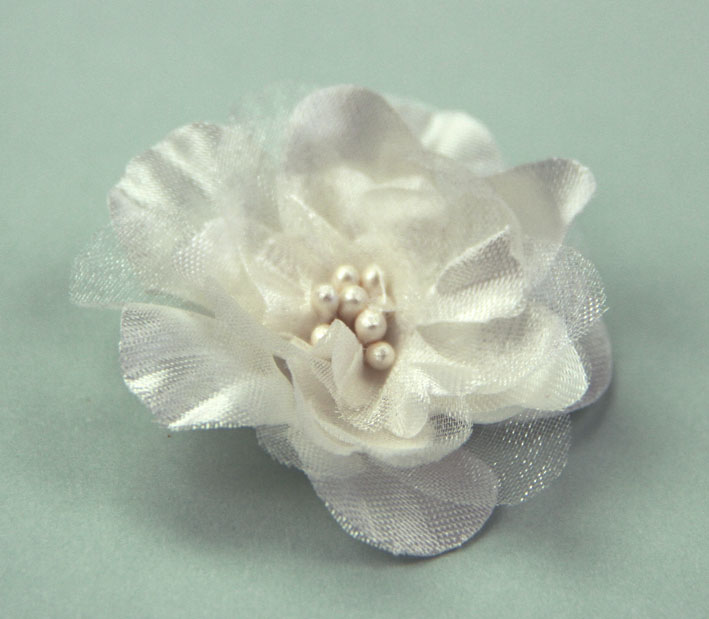 **NEW** Heirloom 4cm Silk and Organza 12pcs Ivory