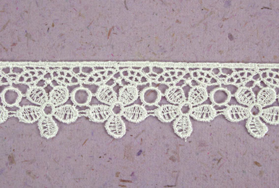 15 Yards Lace, 2.8cm White