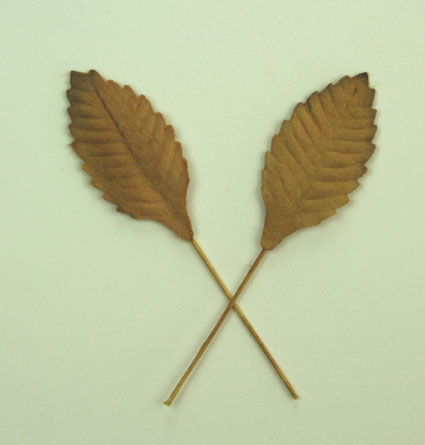 100 Paper Leaves 2.5cm Gold