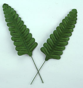 100 Fern Leaves Green  7cm