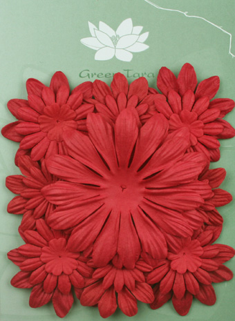 Pack of 22 mixed petals, Red
