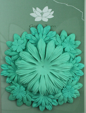 Pack of 22 mixed petals, Turquoise
