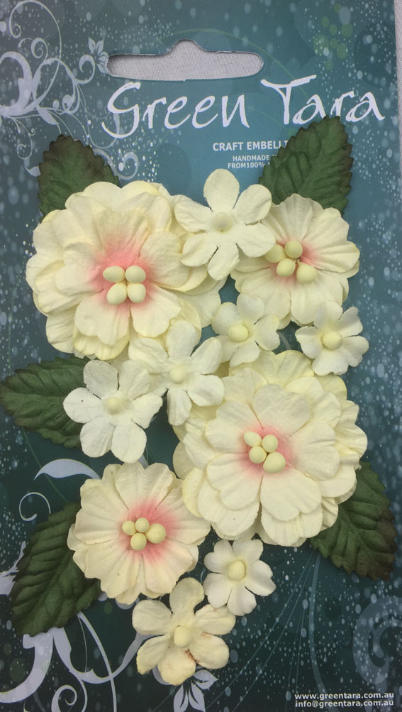 Pastel Flowers Cream/Peach