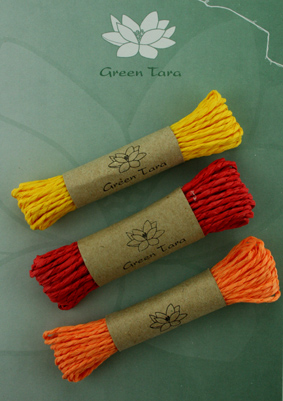 Mixed pack of 3 Paper string Red