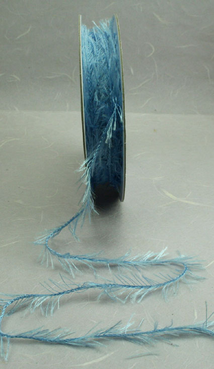 20m Fringe Ribbon 15mm Wedgewood Blue