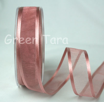 23mm Satin Edged Organza Heritage Rose 25m