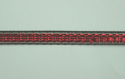 3mm Shimmer ribbon 25m, Red