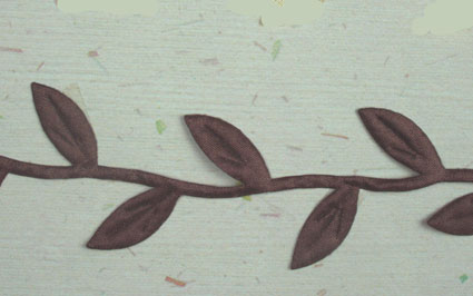 Satin Leaf Garland, Dark Brown