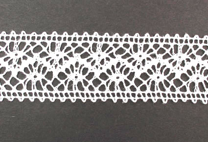 10m Lace Ribbon, 35mm White