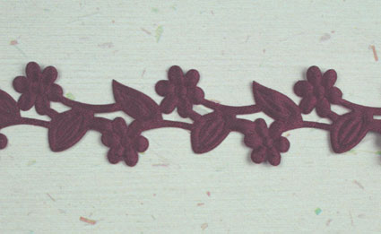 Satin Flower Garland, Burgundy