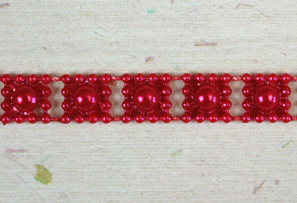 8mm Bead Garland, Red
