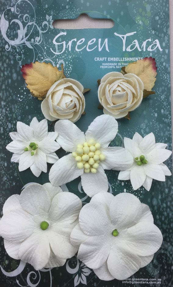7 Rustic Flowers White