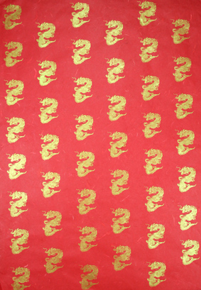 Dragon Red/Gold70 x 50cm