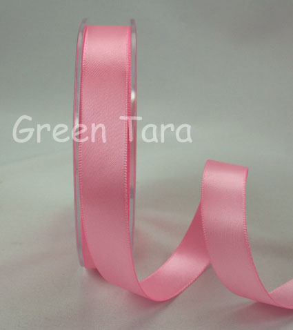 15mm Double Sided Satin Ribbon 25m Pink